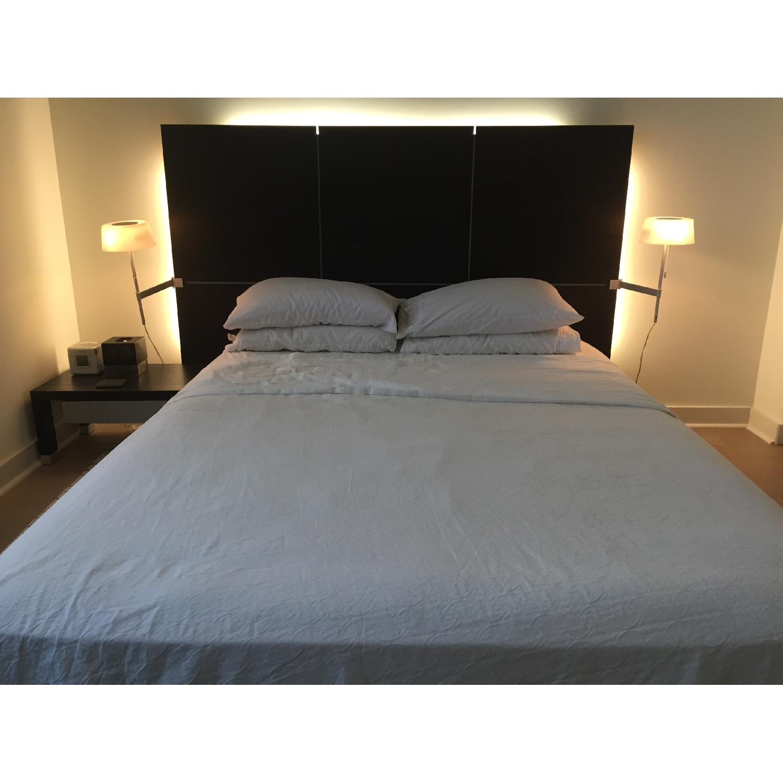 Ligne Roset Lumeo Queen Bed Frame w/ Backlit Headboard - image-1