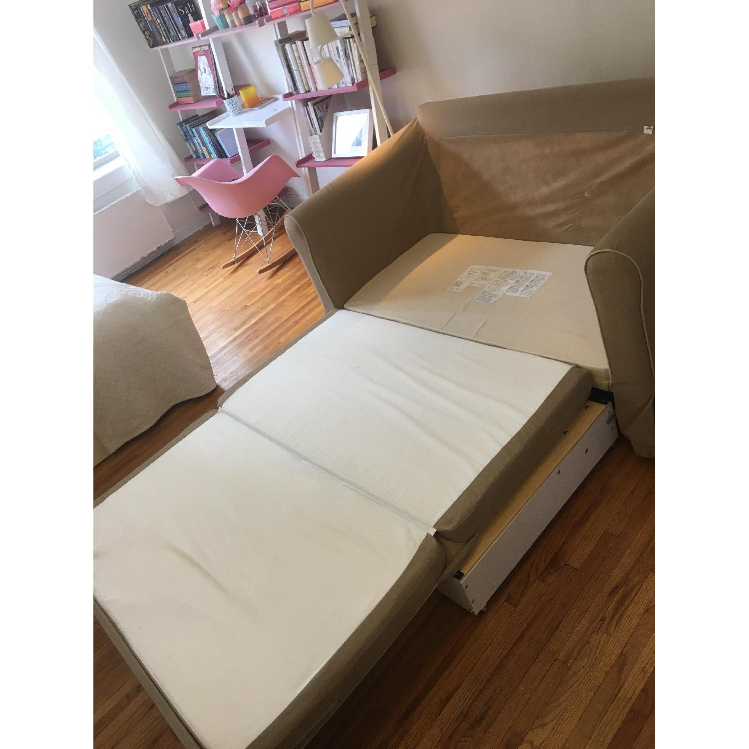 West Elm Beige Fold-Out Couch - image-6