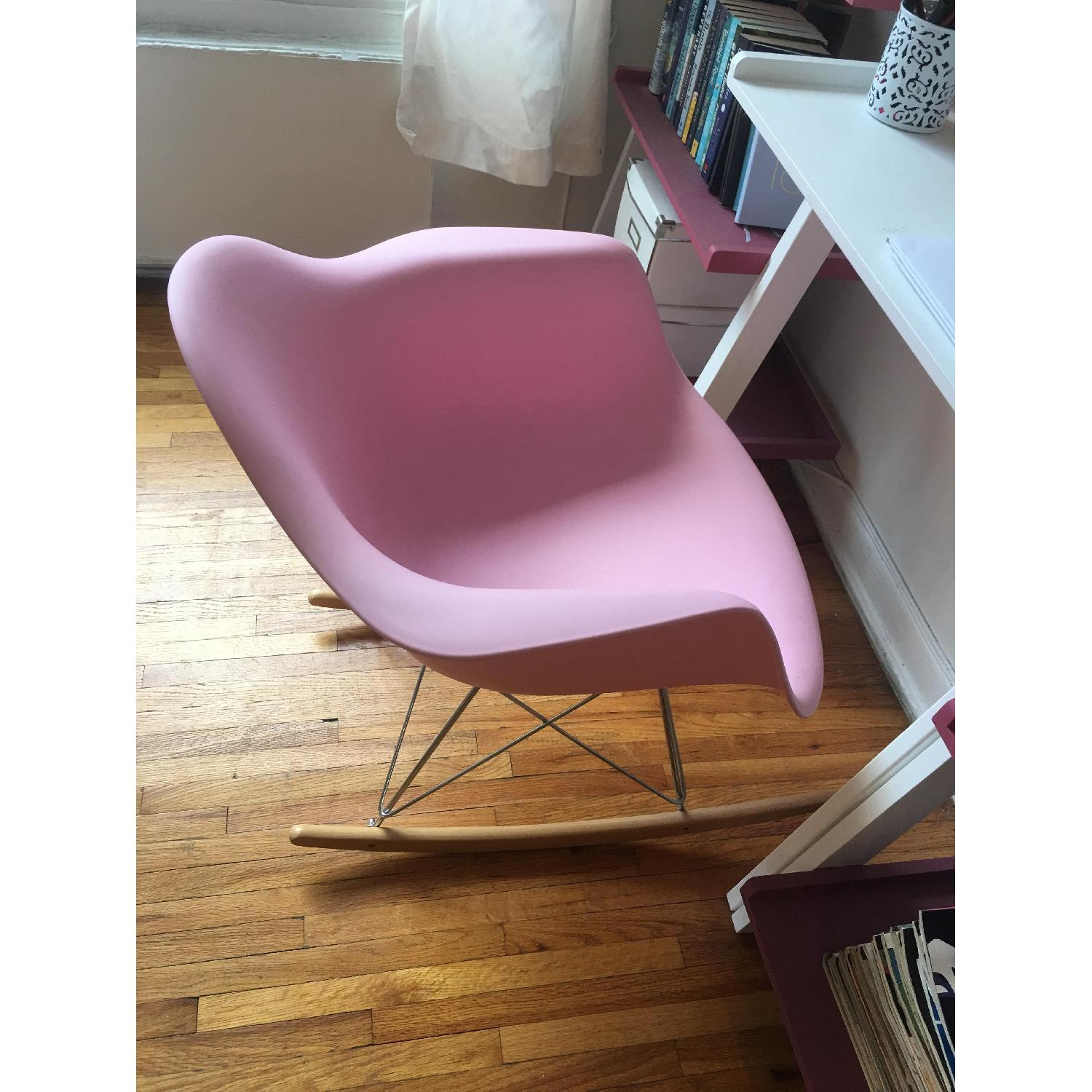 Pink Replica Eames Rocking Chair - image-2