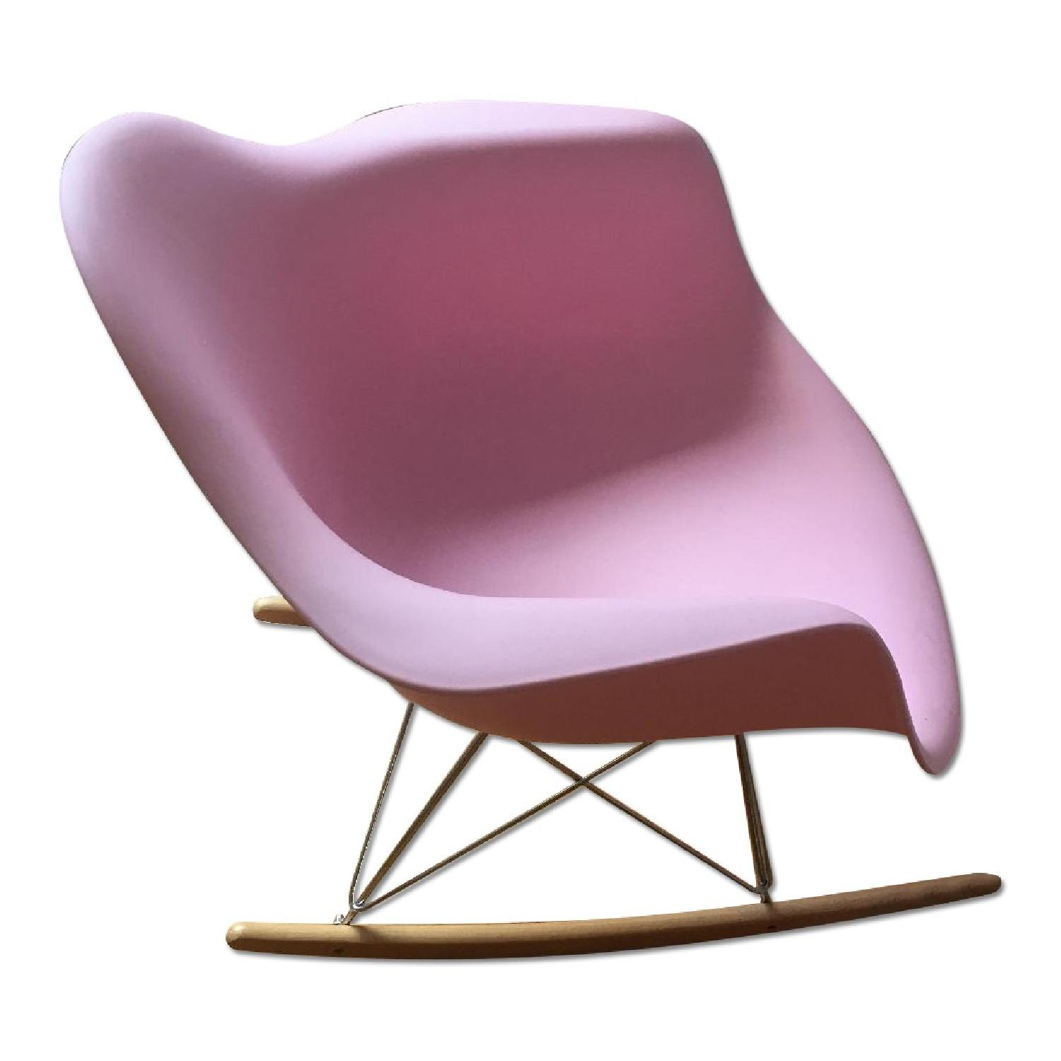 Pink Replica Eames Rocking Chair - image-0