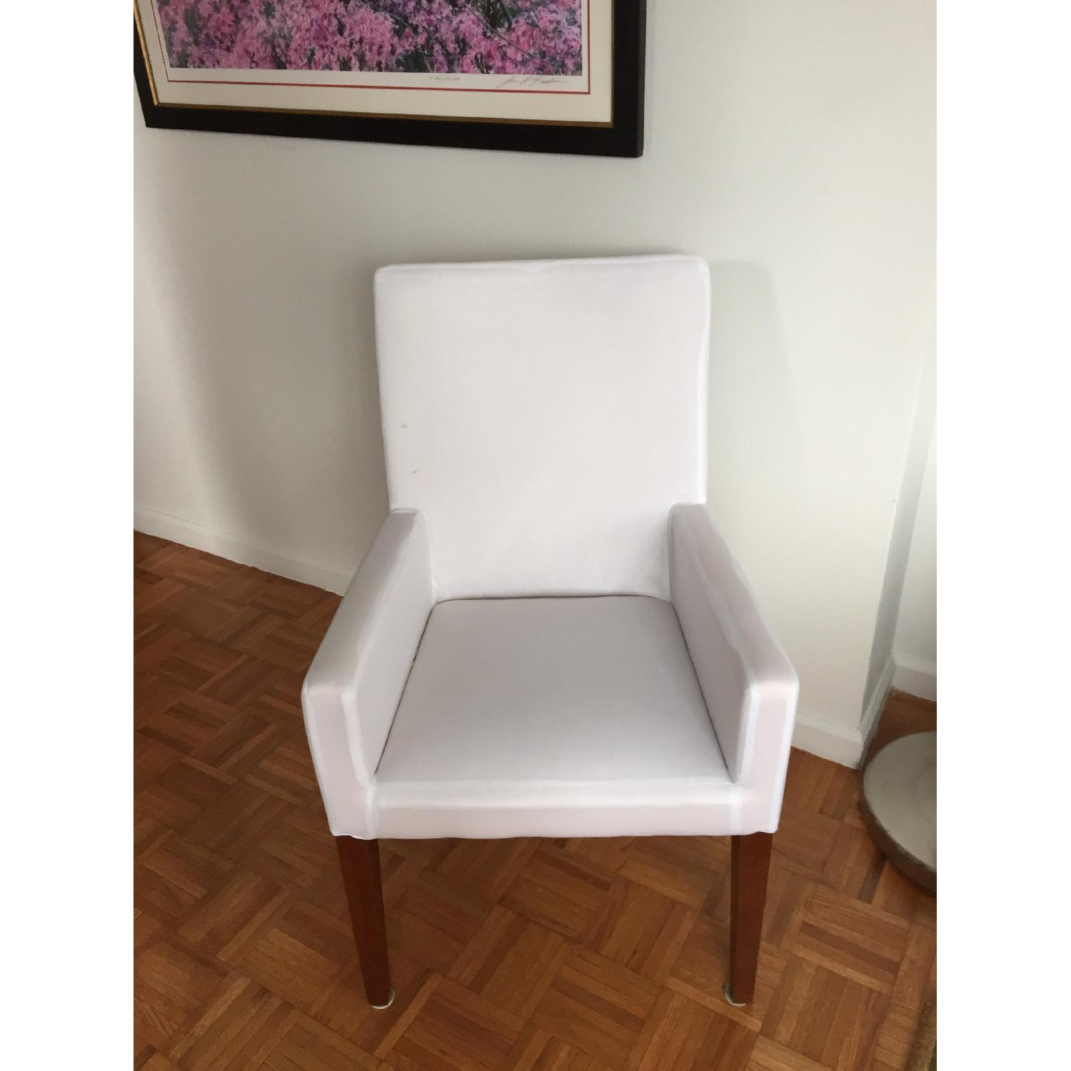 Pottery Barn Cooper Arm Chair w/ Natural Slipcover - image-1