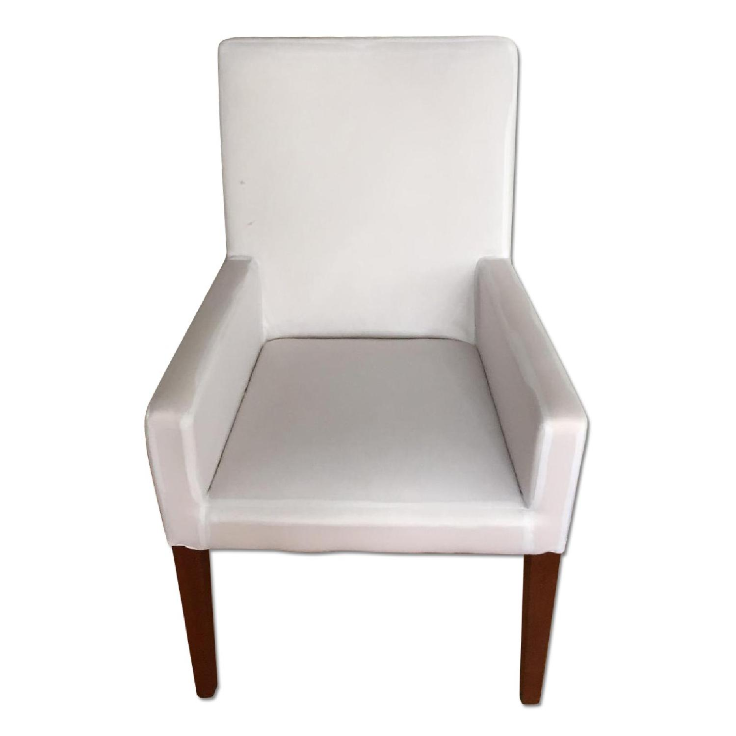 Pottery Barn Cooper Arm Chair w/ Natural Slipcover - image-0