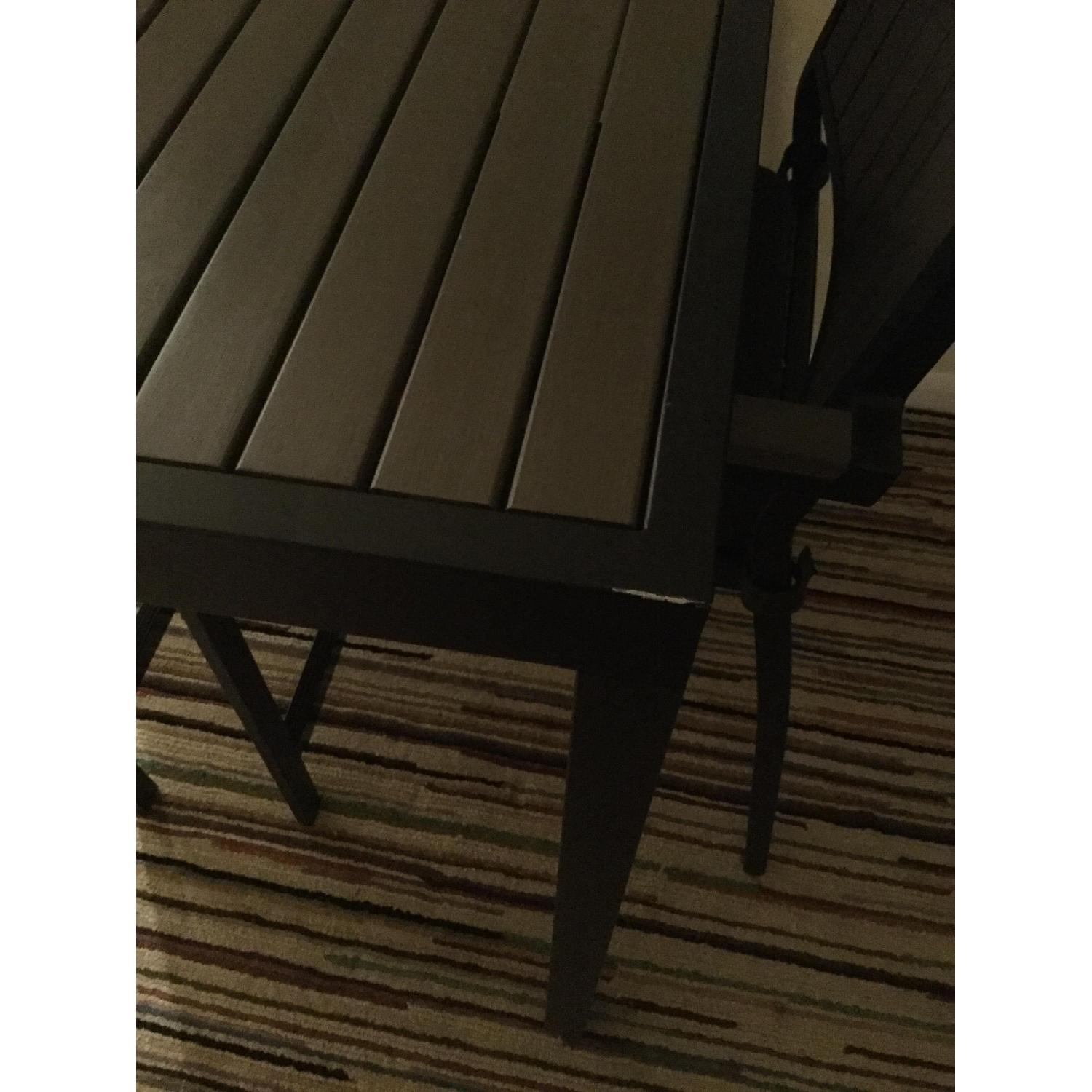 Crate & Barrel Alfresco Home Outdoor Dining Table w/ 2 Chairs - image-4