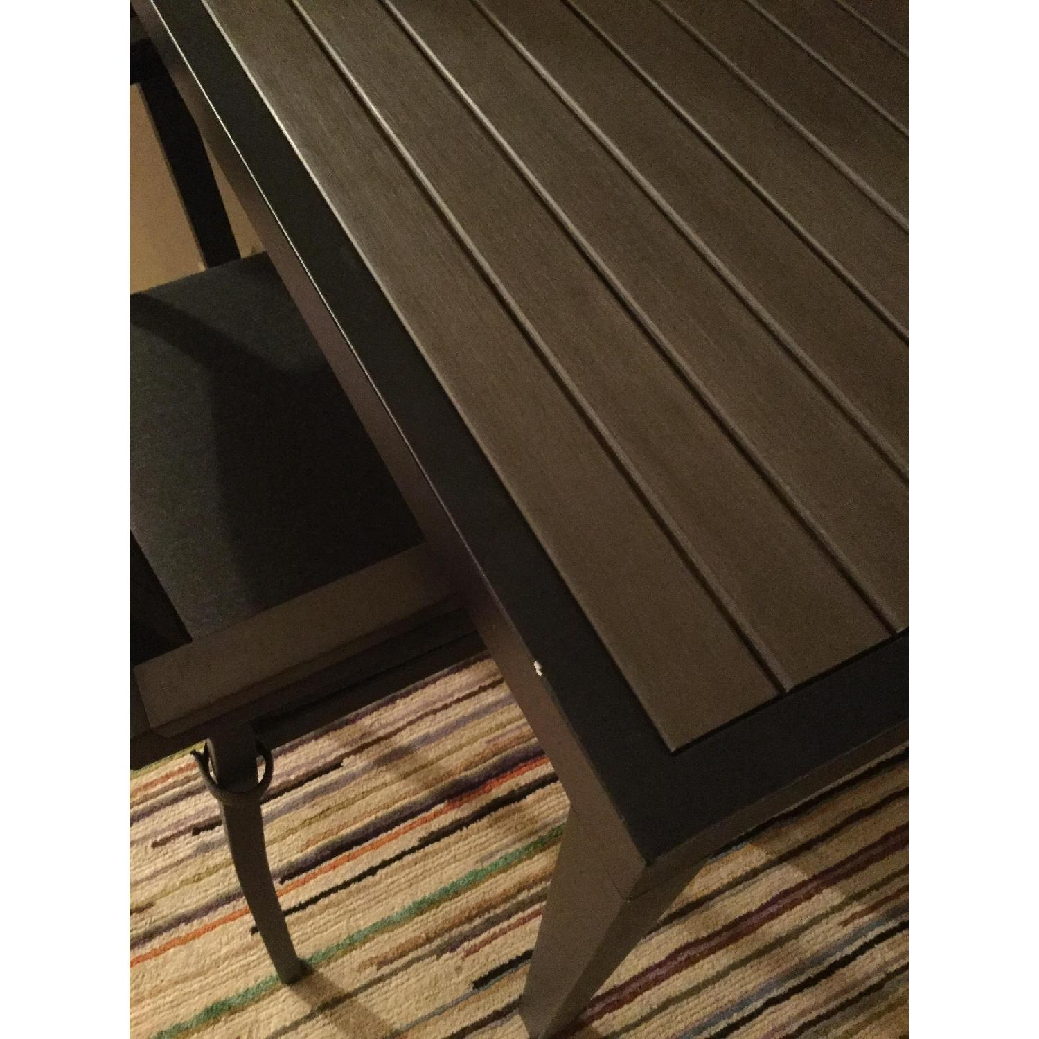 Crate & Barrel Alfresco Home Outdoor Dining Table w/ 2 Chairs - image-5