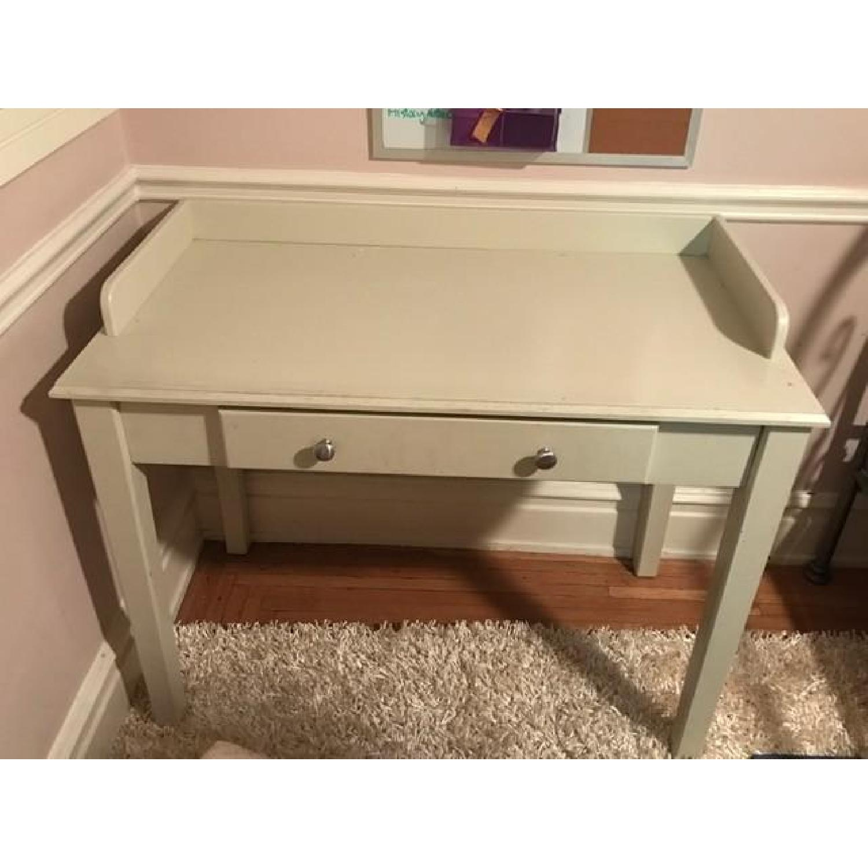 Wood Desk in White - image-1