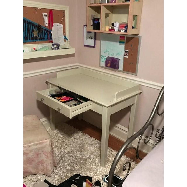 Wood Desk in White - image-2