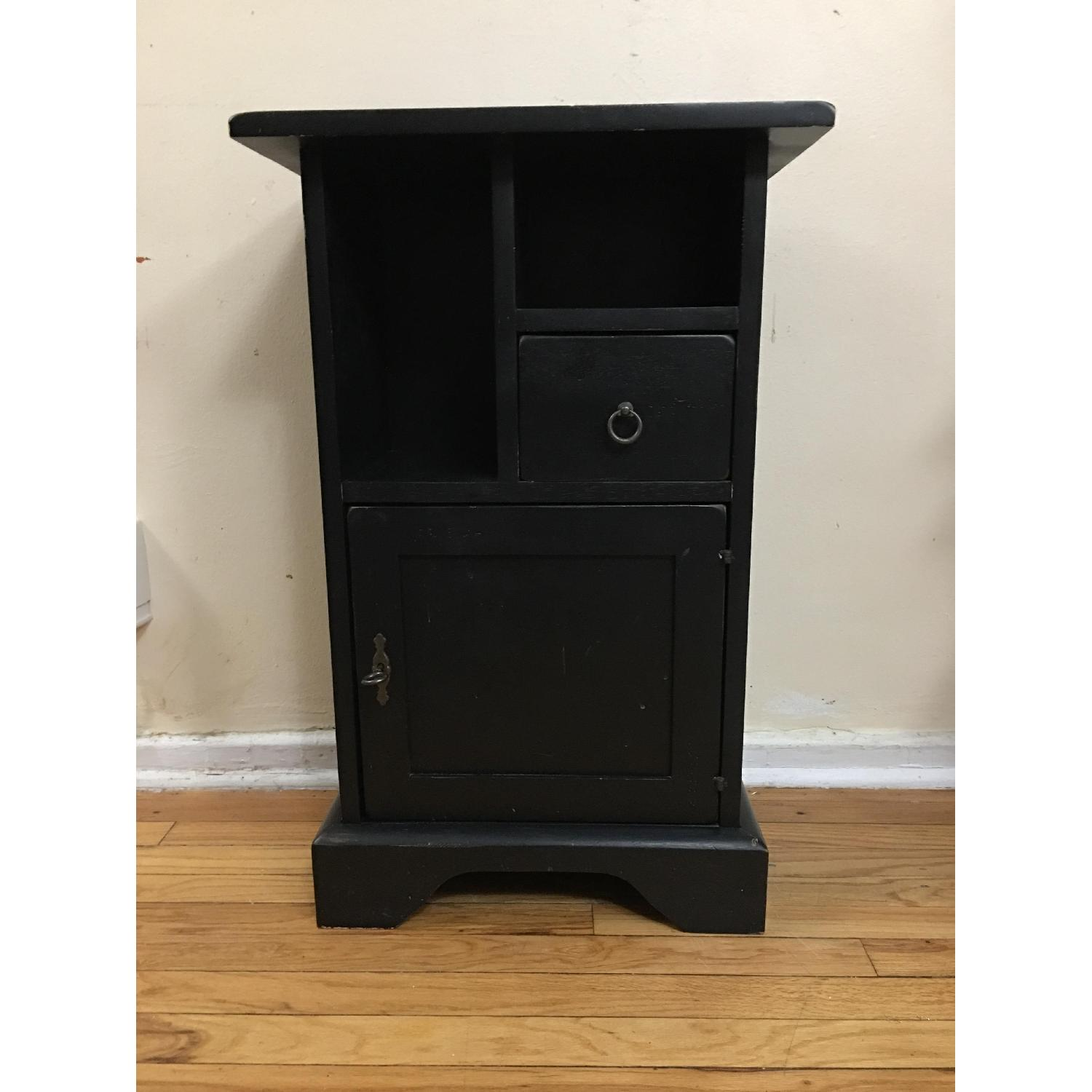 Ashley Black Painted Accent Table - image-1