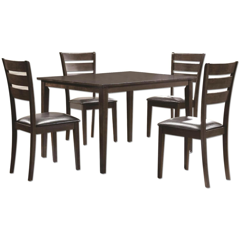 5 Piece Dining Set in Espresso Finish