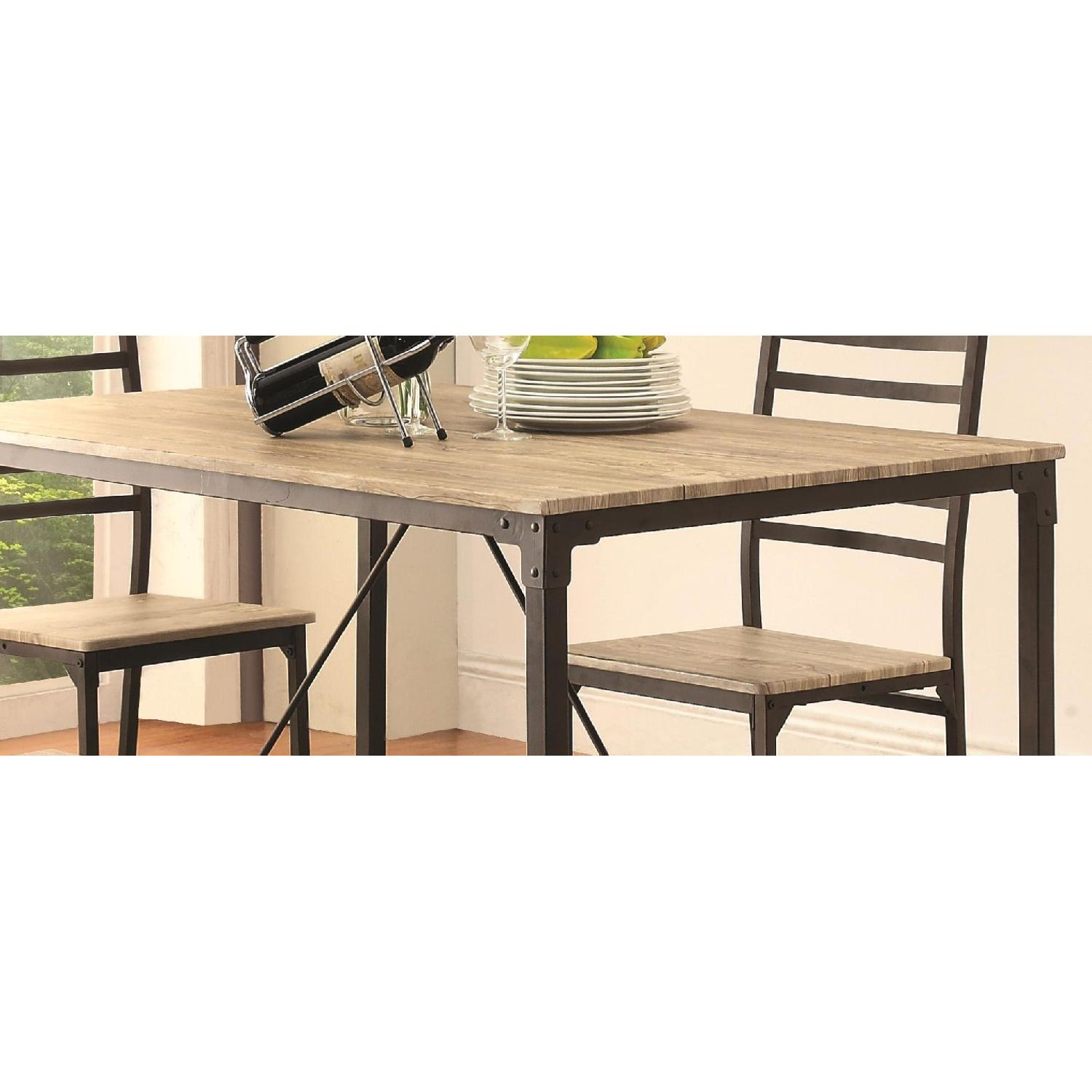 Industrial Design Inspired 5 Piece Rustic Dining Set - image-2