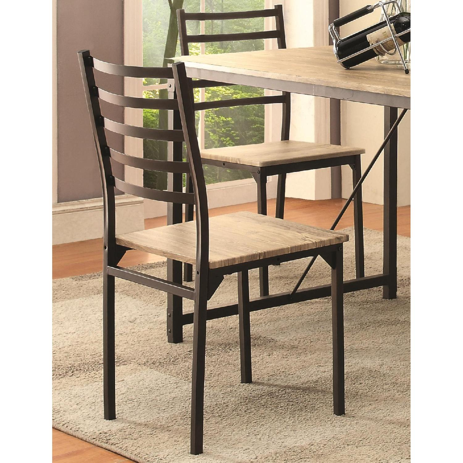 Industrial Design Inspired 5 Piece Rustic Dining Set - image-3