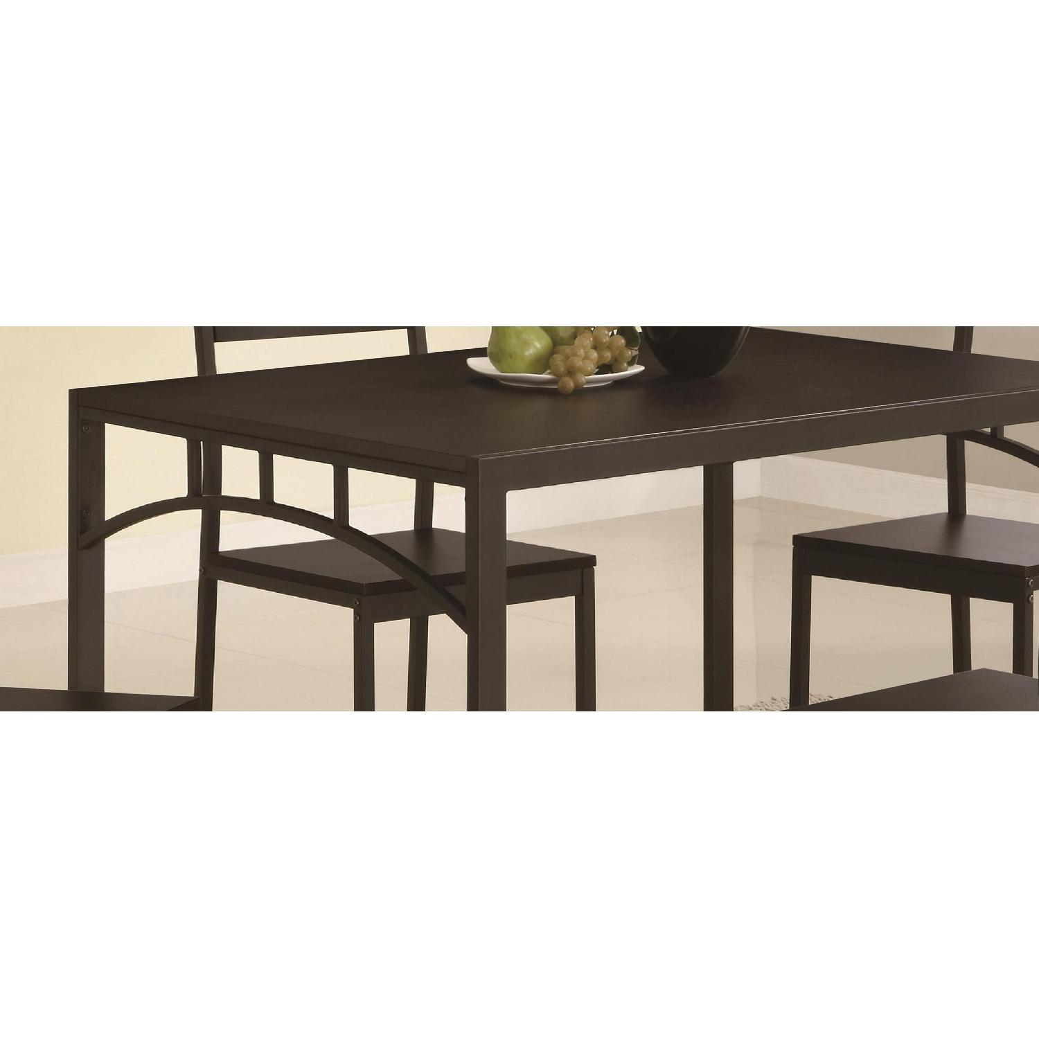 5-Piece Simple Chic Dining Set w/ Metal Frame & Wood Top - image-2