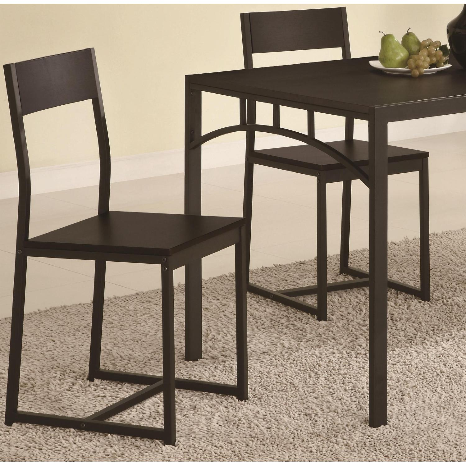 5-Piece Simple Chic Dining Set w/ Metal Frame & Wood Top - image-3