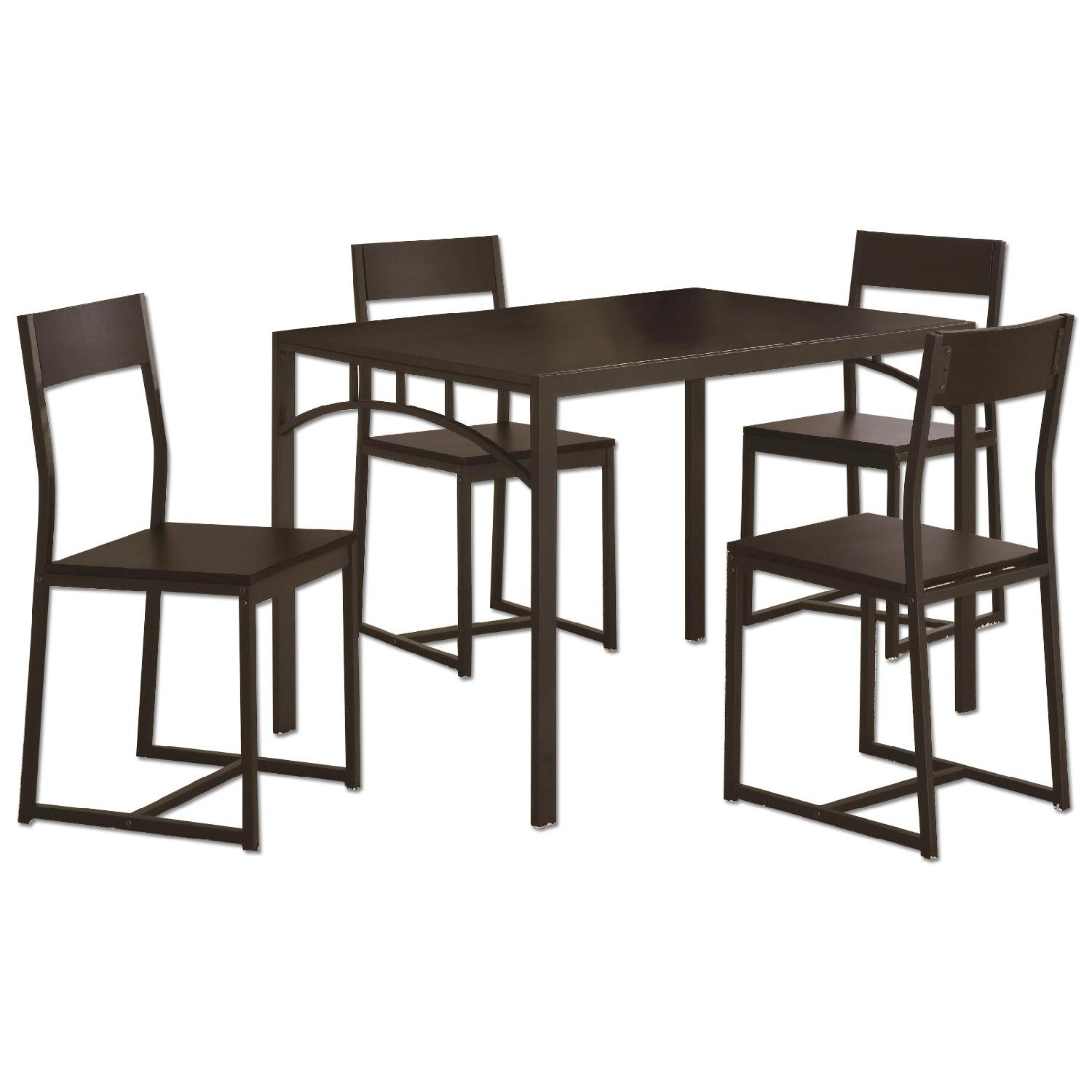 5-Piece Simple Chic Dining Set w/ Metal Frame & Wood Top - image-0