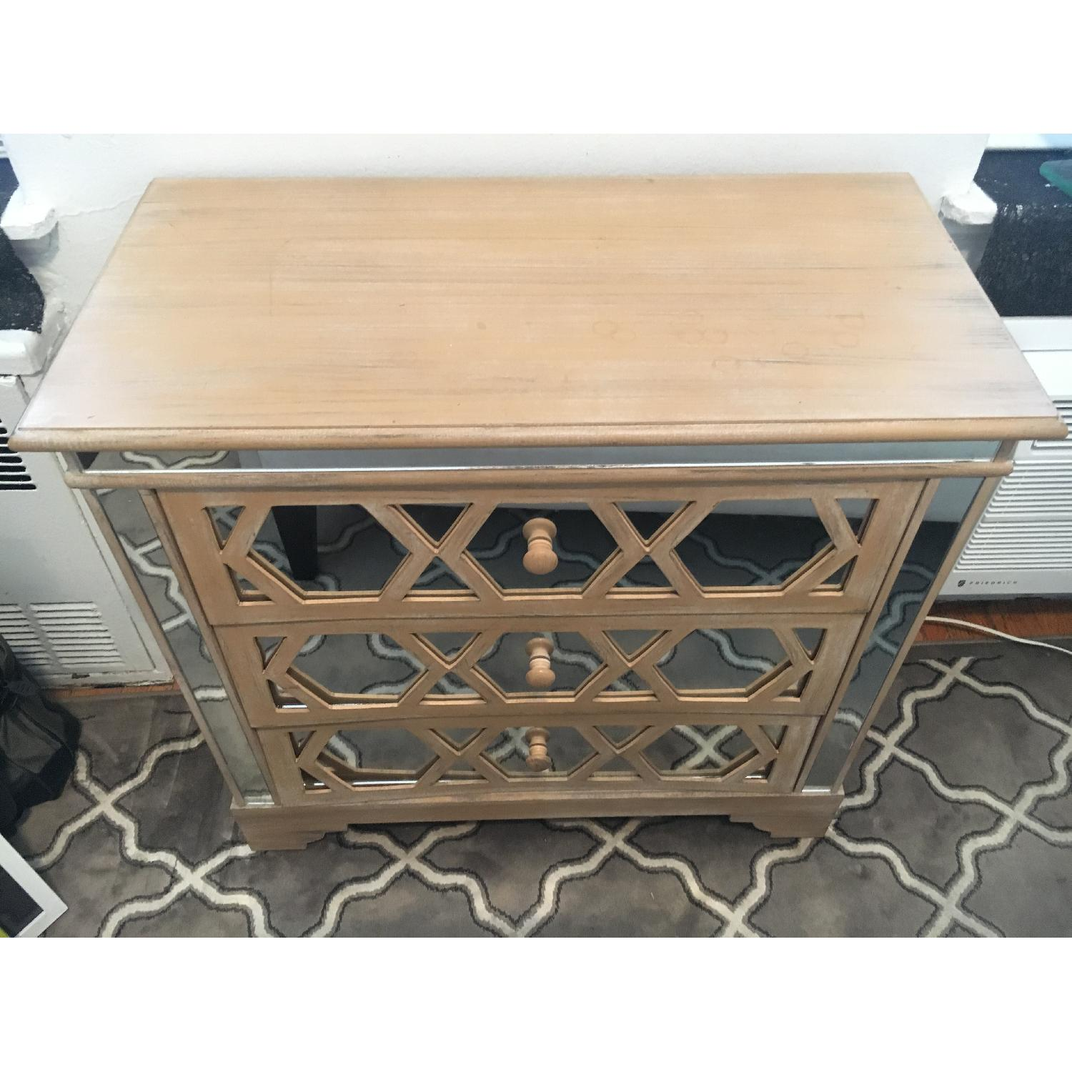 3 Drawer Dresser w/ Mirror Front Accents - image-2