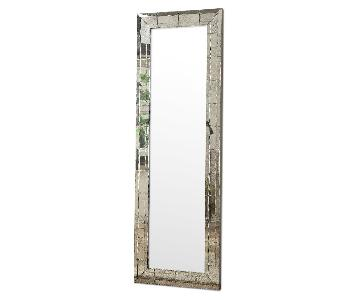 Full Length Mirror w/ Eclectic Vintage Style Mirrored Frame