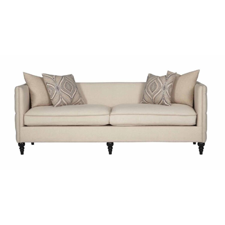 Modern Sofa w/ Down Blend & Foam Layered Cushions in Taupe F
