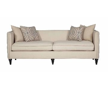 Modern Sofa w/ Down Blend & Foam Layered Cushions in Taupe F