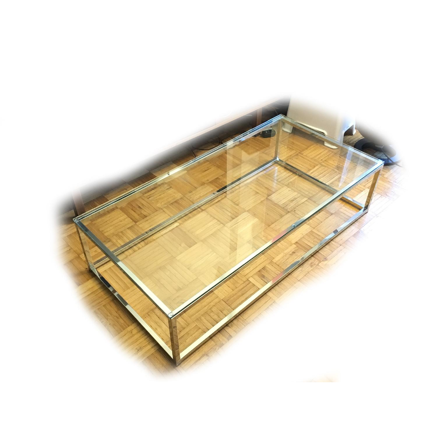 CB2 Smart Glass Top Coffee Table - image-1