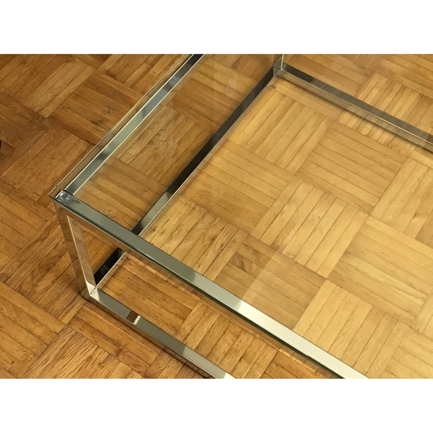 CB2 Smart Glass Top Coffee Table - image-3