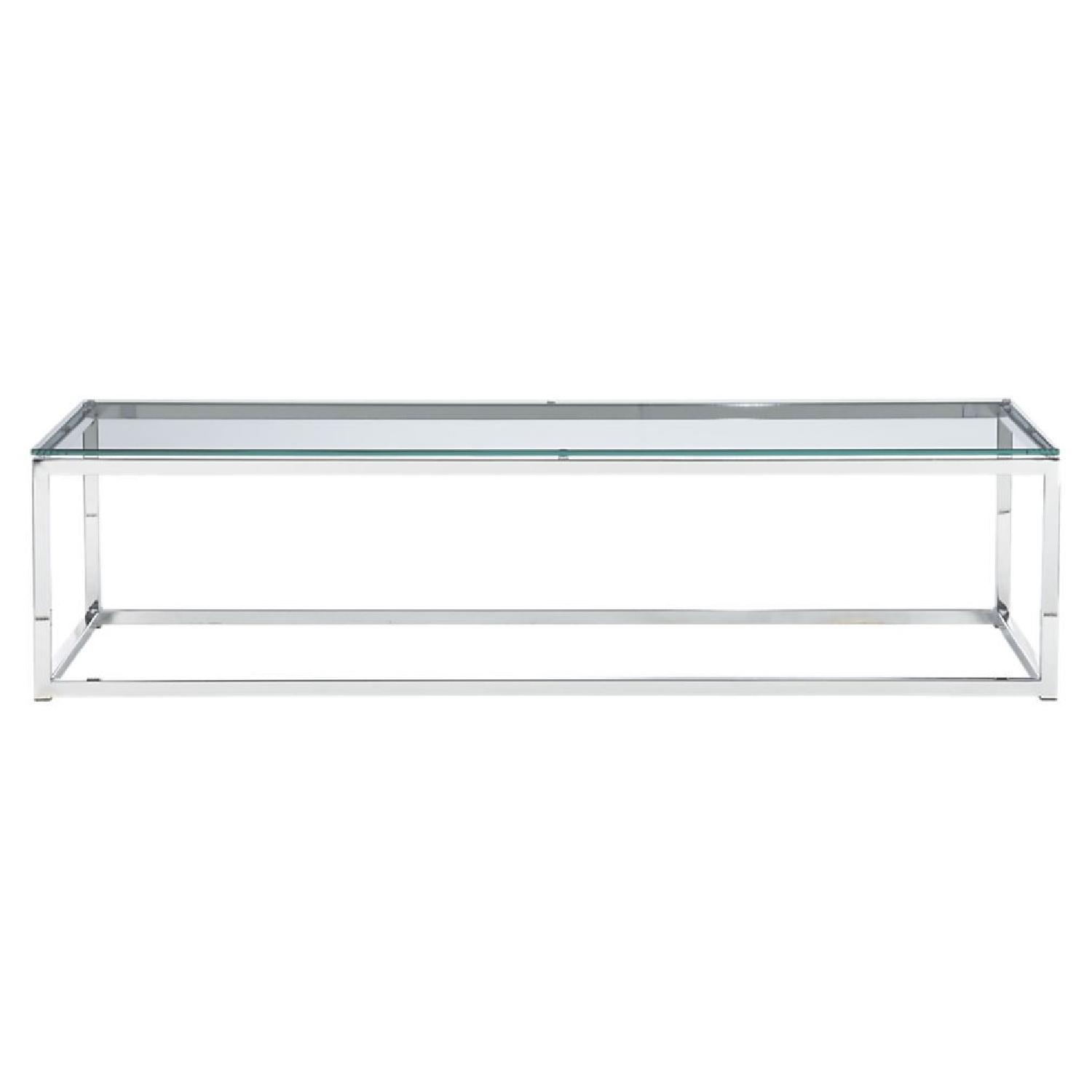 CB2 Smart Glass Top Coffee Table - image-4