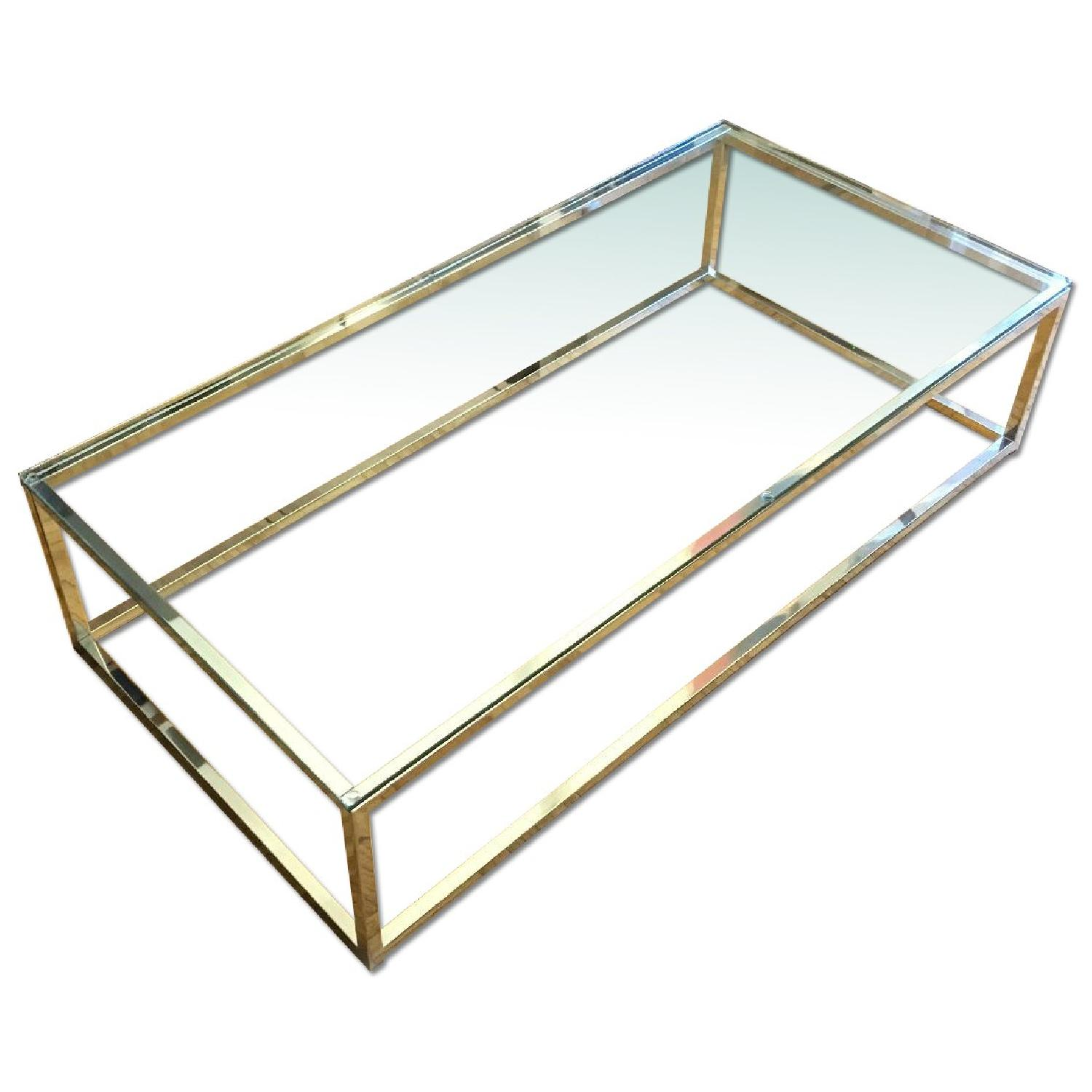CB2 Smart Glass Top Coffee Table - image-0
