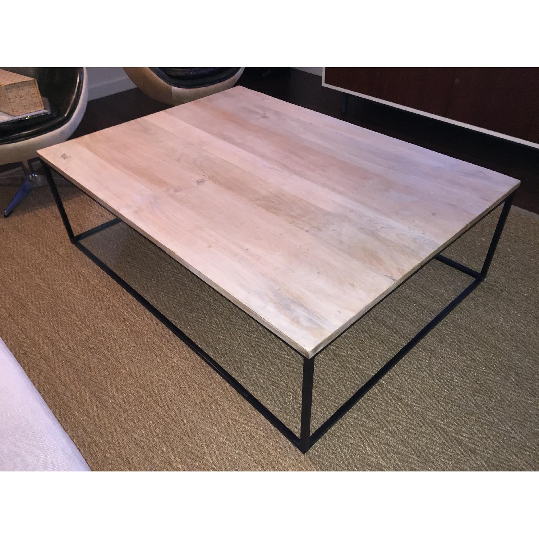 Mango Wood & Metal Coffee Table - image-1