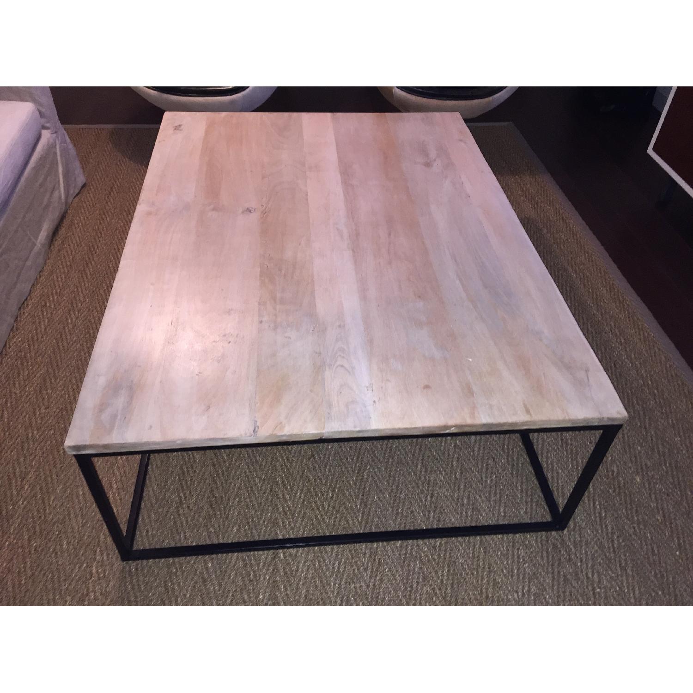 Mango Wood & Metal Coffee Table - image-2