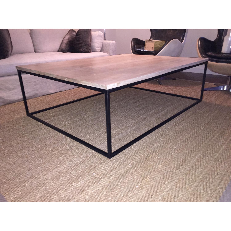 Mango Wood & Metal Coffee Table - image-3
