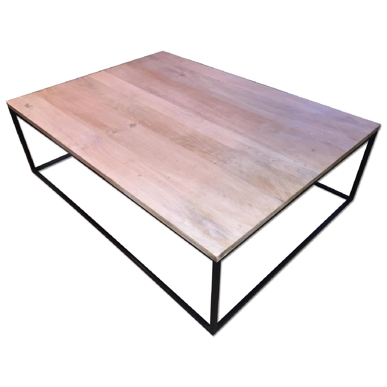 Mango Wood & Metal Coffee Table - image-0