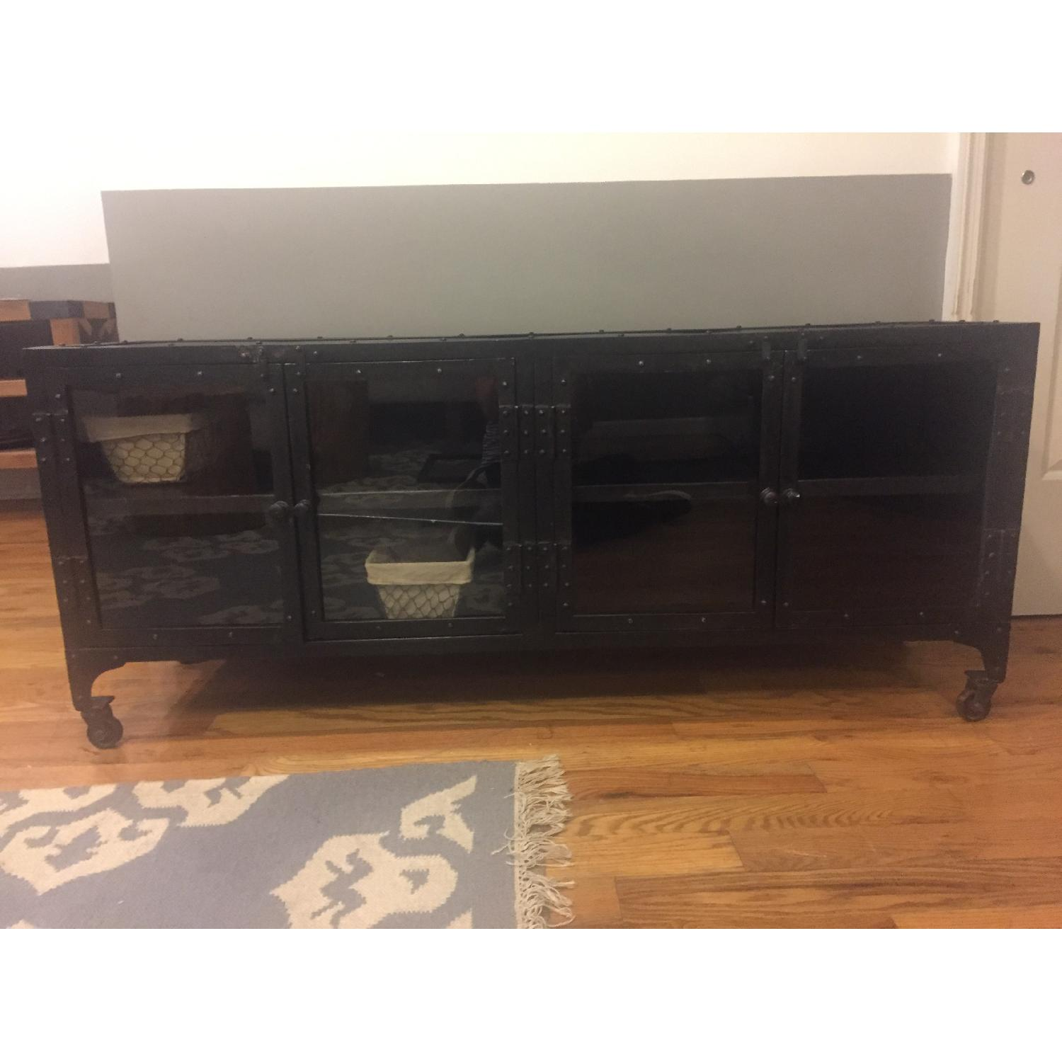 Industrial Metal Cabinet/TV Stand - image-5