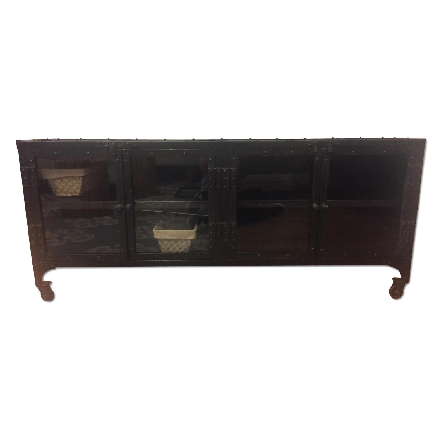 Industrial Metal Cabinet/TV Stand - image-0