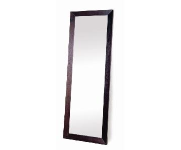 Modern Full Length Mirror in Espresso Wood Frame