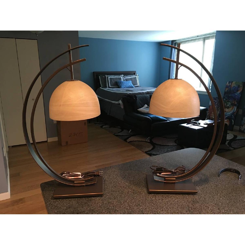 Raymour & Flanigan Art Deco/Modern Lamps - image-1