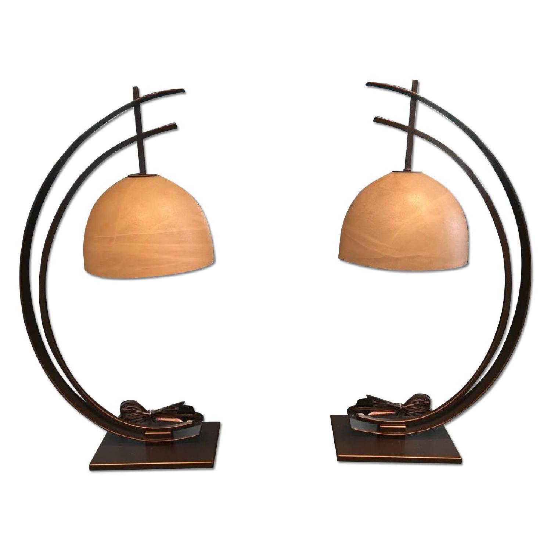 Raymour & Flanigan Art Deco/Modern Lamps - image-0