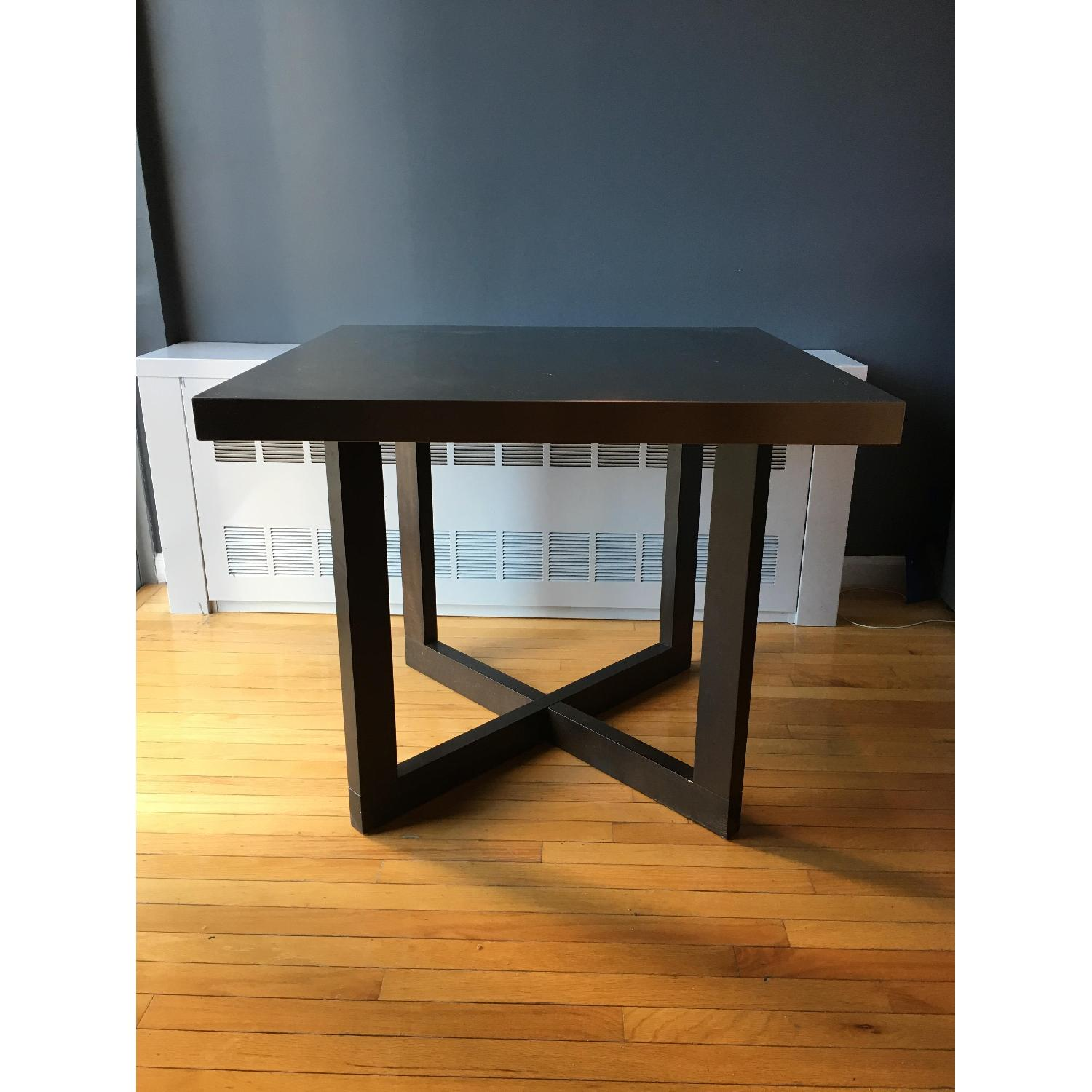 West Elm Solid Wood Table w/ Stainless Steel Top - image-2