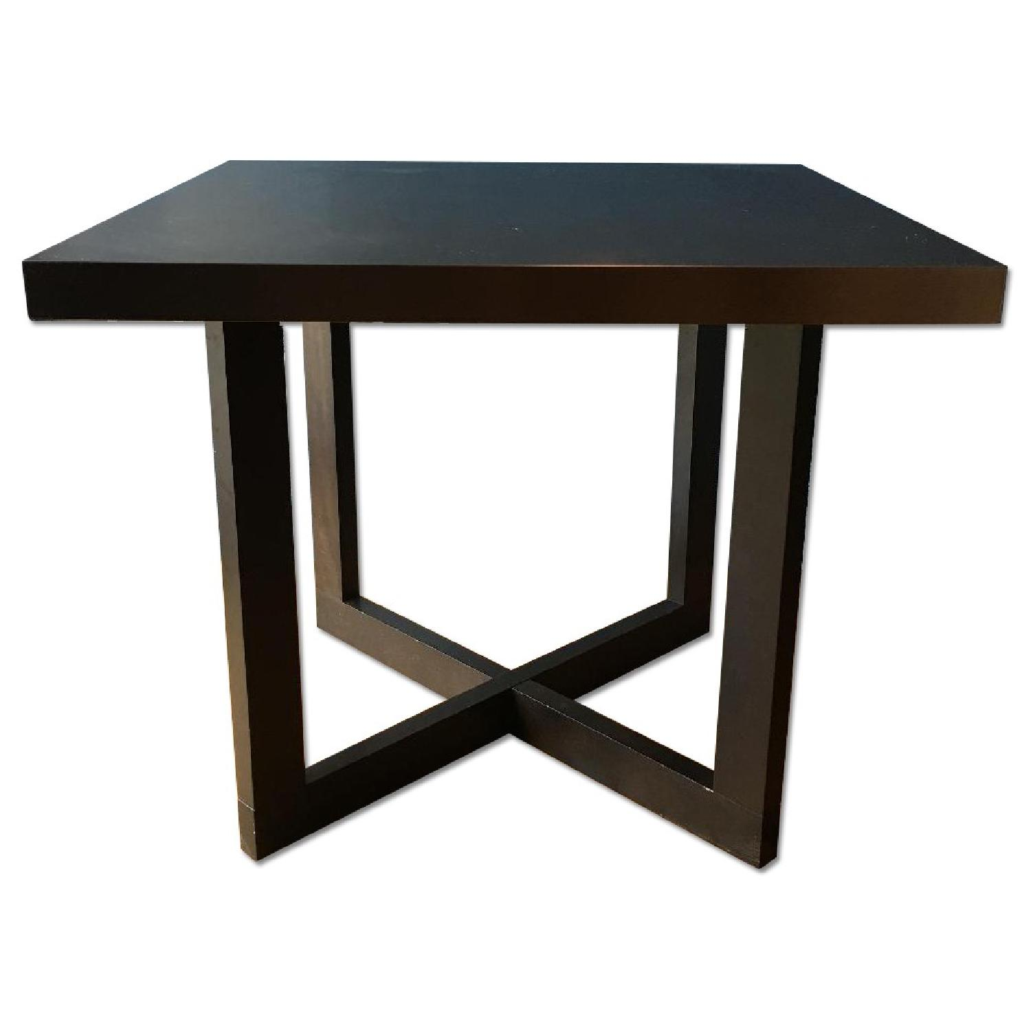 West Elm Solid Wood Table w/ Stainless Steel Top - image-3