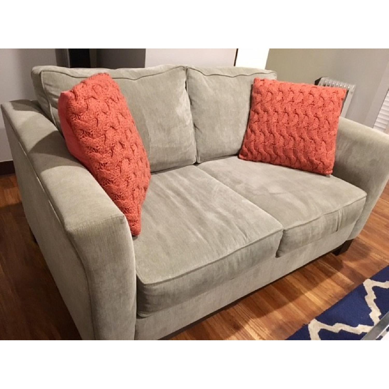 Macy's Kenton Fabric Love Seat - image-1