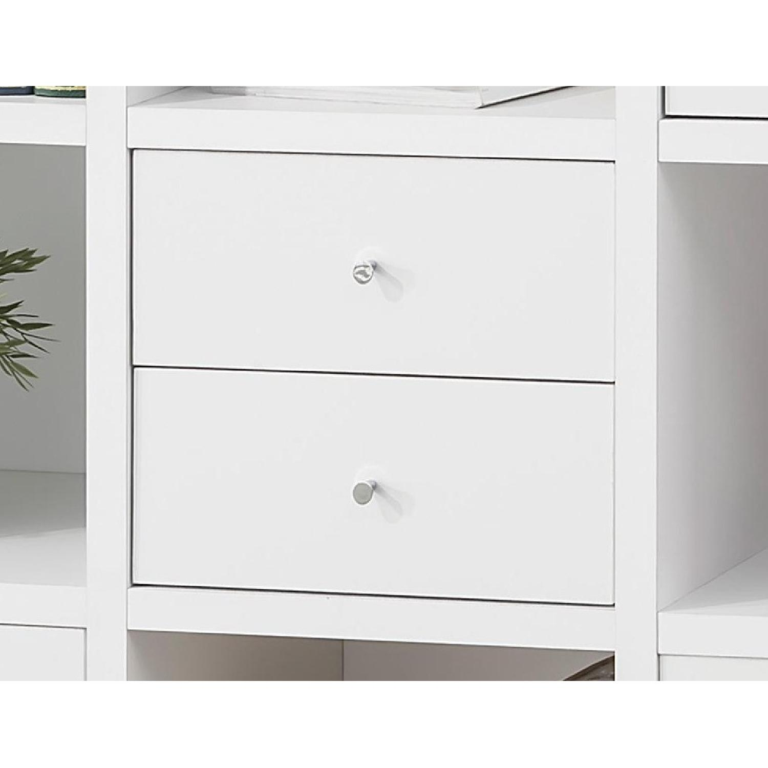 Reversible Asymmetric Shelf Cabinet in White Finish - image-2