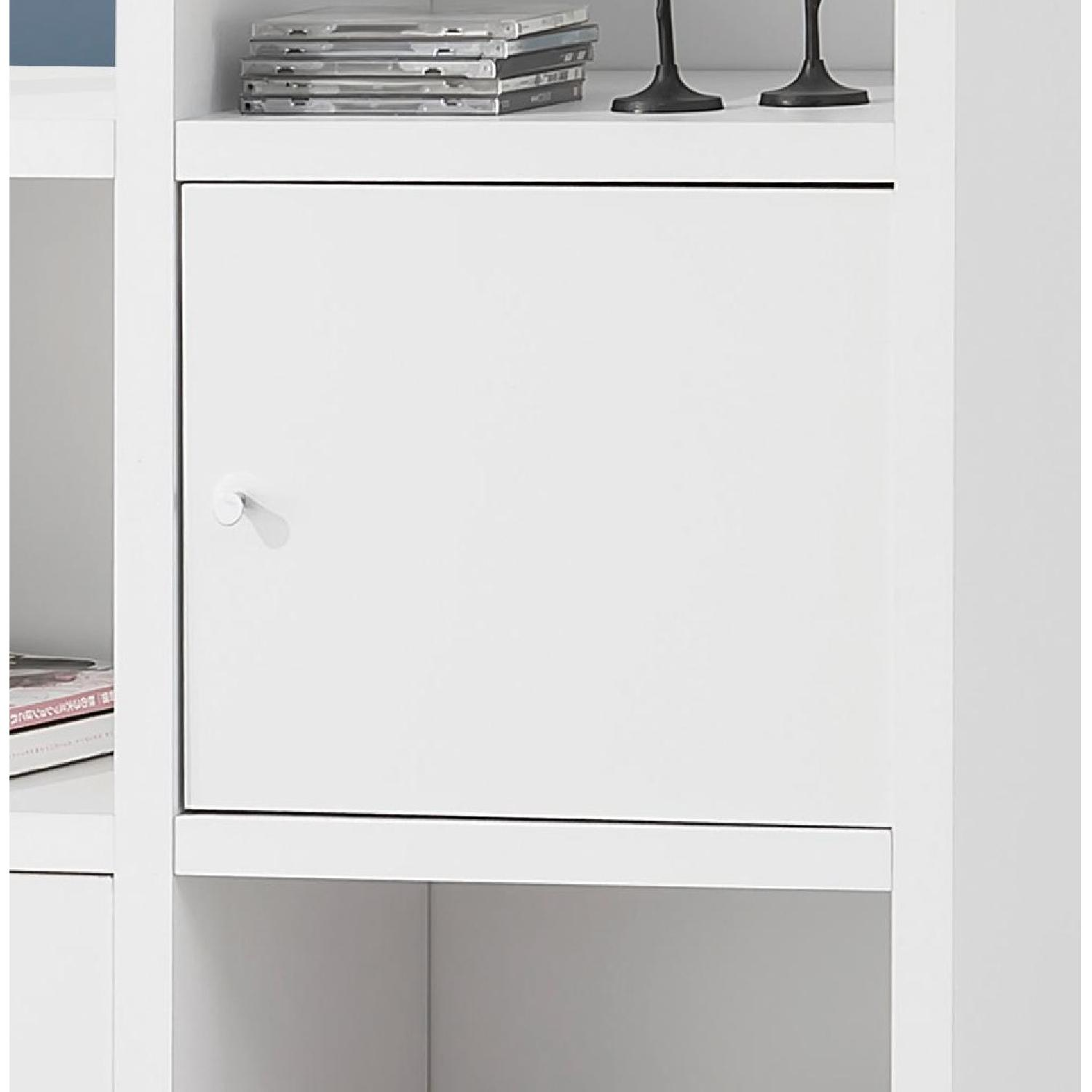 Reversible Asymmetric Shelf Cabinet in White Finish - image-3