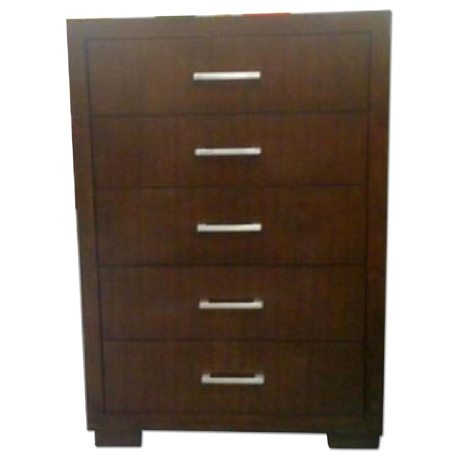 Chest of Drawers w/ Drawers in Cappuccino Finish