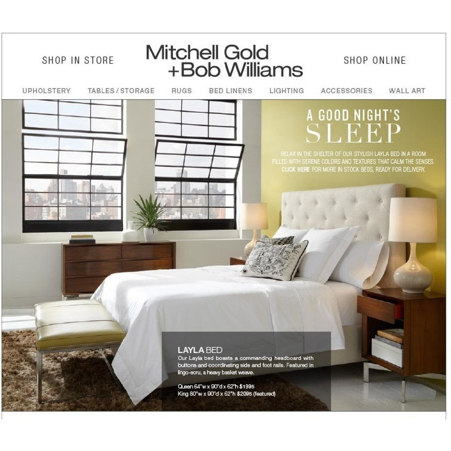 Mitchell Gold + Bob Williams Layla Queen Bed-1