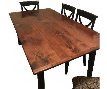 Handmade Extendable Dining Table w// 6 Chairs