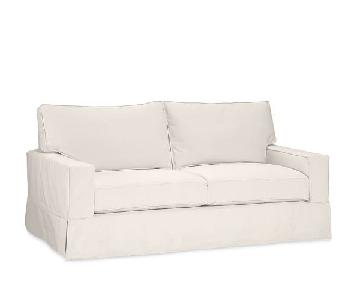 Pottery Barn Slipcovered Sleeper Sofa in Ivory