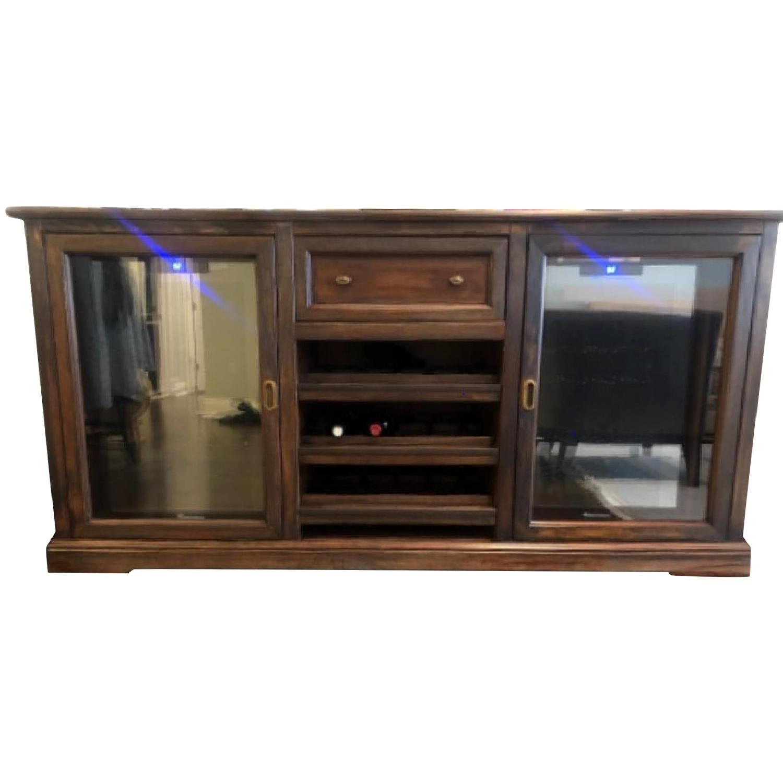 Refinished Siena Wine Credenza/Cabinet