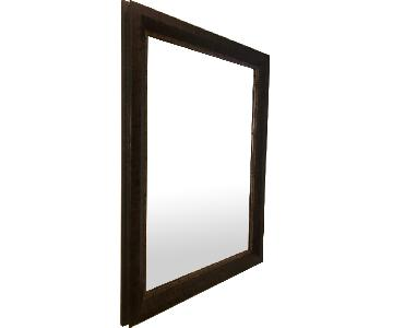 Mirror w/ Wood Frame & Interior Gold Trim