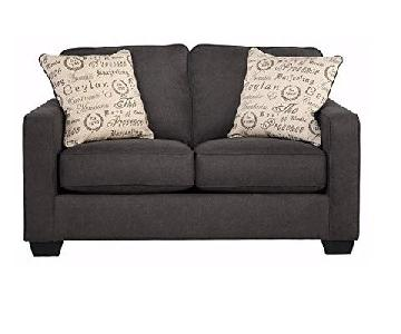 Ashley Alenya Loveseat in Charcoal