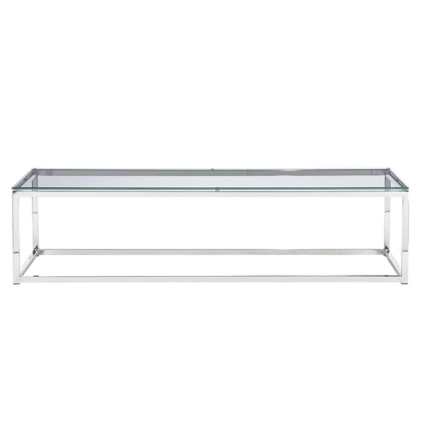 CB2 Smart Glass Coffee Table