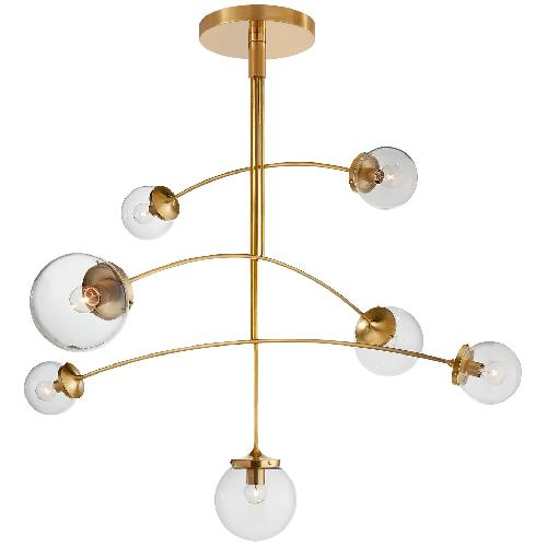 Used Kate Spade Prescott Large Mobile Chandelier in Soft Brass for sale on AptDeco