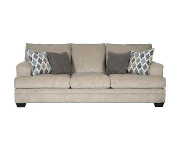 Ashley Beige Fabric Sofa