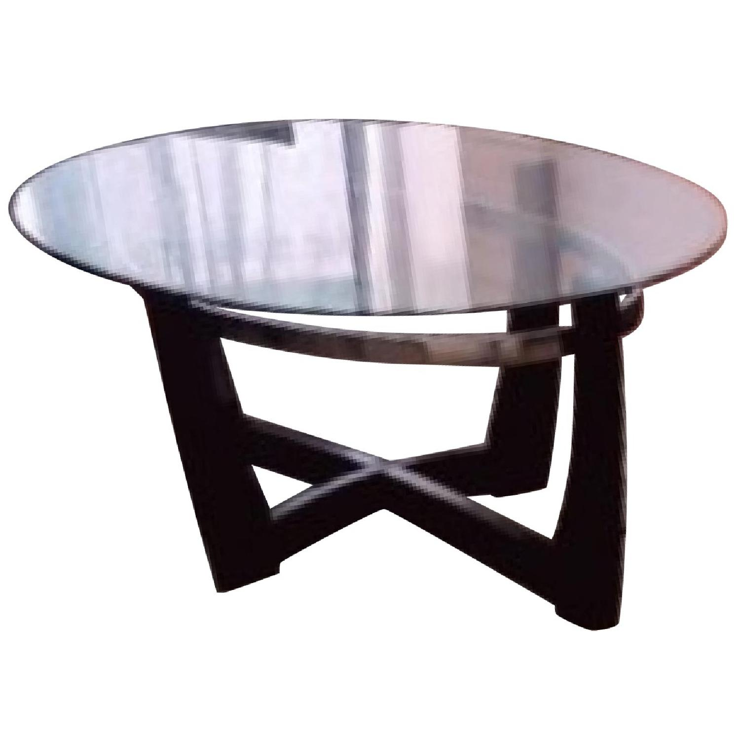 Black & Glass Coffee Table